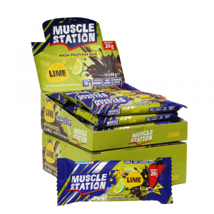 Musclestation Lime Protein Bar 12 Adet 65 Gr